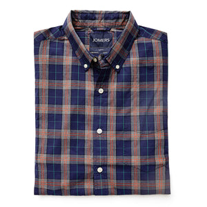Washed Button Down Shirt - Vernon Plaid