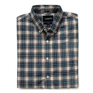 Washed Button Down Shirt - Kingston Plaid
