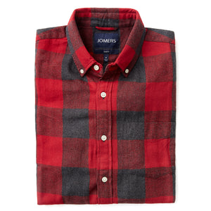 Washed Button Down Shirt - Buffalo Check Flannel