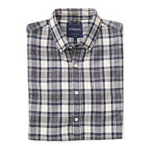 Washed Button Down Shirt - Japanese Crepe Ashwell Check