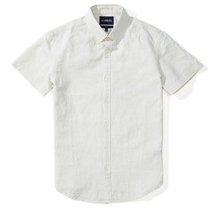 Alexander  - Light Gray Crosshatch Short Sleeve Shirt