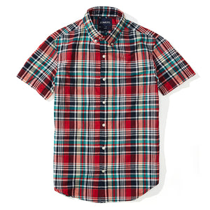 Zachary  - Indian Madras Short Sleeve Shirt