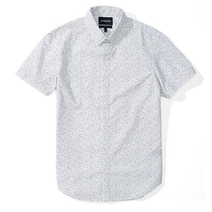 Colin  - White Floral Print Short Sleeve Shirt