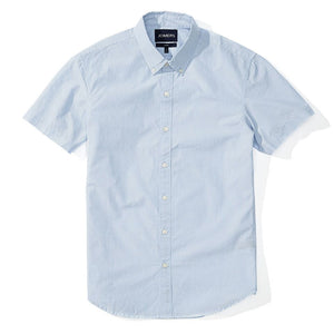 Joshua  - Light Blue Dot Short Sleeve Shirt