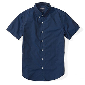 Benjamin  - Navy Blue Dot Short Sleeve Shirt