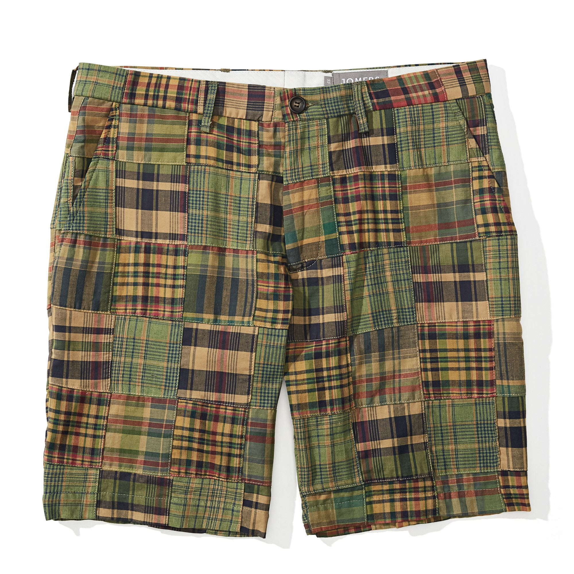 02c947a508 Belize -Olive Madras Patchwork Shorts