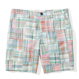 Aruba - Mint Madras Patchwork Shorts