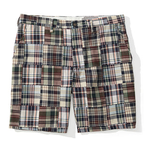 Amagansett - Navy Madras Patchwork Shorts