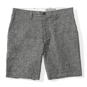 Miyajima - Gray Japanese Cotton Linen Slub Chambray Shorts