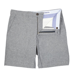 Claverick - Sky Grey Lightweight Chambray Shorts