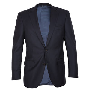 Navy Vitale Barberis Caninco Half Canvas Men's Suit