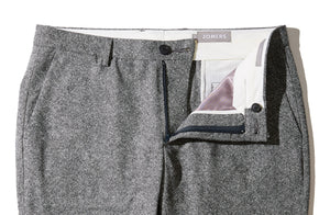 Sutton - Gray American Donegal Wool Trousers