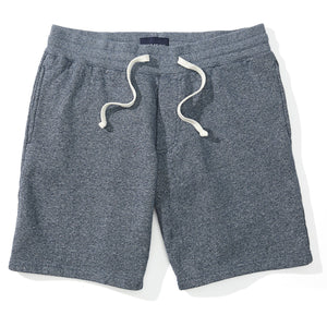 Jules - Navy Marled Fleece Sweat Shorts