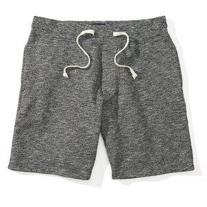 Grayson - Gray Marled Fleece Sweat Shorts