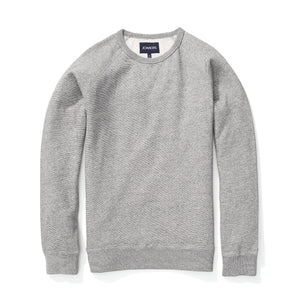 Fleece Sweatshirt - Textured Gray