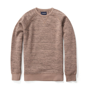 Fleece Sweatshirt - Knitted Chestnut Jacquard