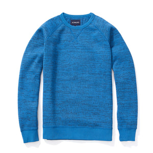 Fleece Sweatshirt - Knitted Heather Blue Jacquard
