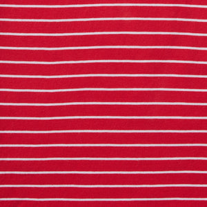 Spencer - Vibrant Red White Stripe Tee