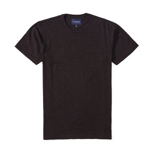 Connor - Black Pima Slub Tee