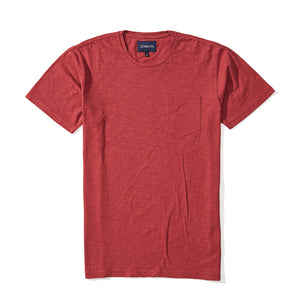 Thompson - Red Pima Slub Tee