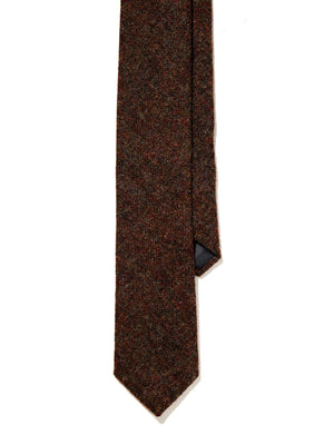 Wool Tie - English Brown Donegal