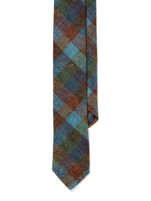 Wool Tie - Multicolor Check Tweed