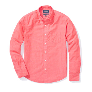 Vassar (Standard) - Red Wash Chambray Button Down