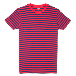 Governor - Vibrant Red Blue Stripe Tee