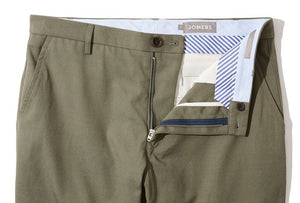 Victor (Slim) - Olive Canvas Chino