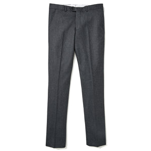 Italian Wool Flannel Dress Pants - Heather Dark Grey