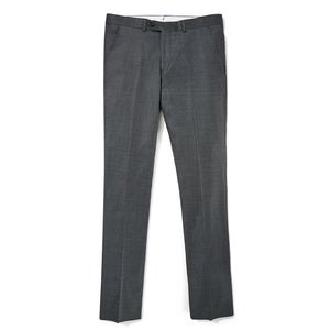 Italian Wool Dress Pants - Dark Gray Sharkskin