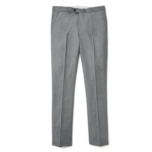 Lancaster (Slim) - Medium Gray Twill Vitale Barberis Canonico Dress Pants