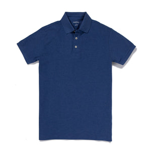 Jessup - Heather Blue Pique Polo