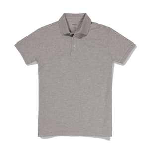 Penn - Heather Marled Gray Pique Polo
