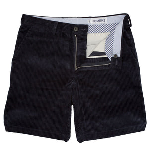 Richmond - Navy Wide Wale Cord Shorts
