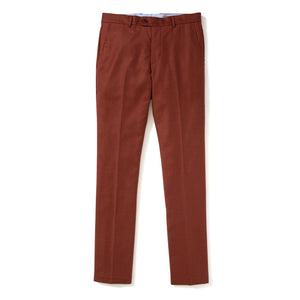 Italian Wool Flannel Dress Pants - Rust