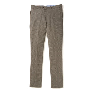 Italian Wool Dress Pants - Dark Khaki Plaid