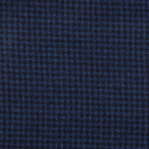 Admiral (Slim) - Navy Microcheck Italian Worsted Wool