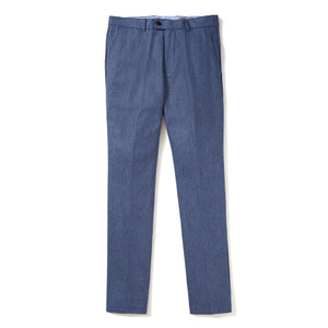 Italian Wool Flannel Dress Pants - Sky Blue