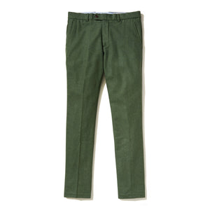 Italian Wool Flannel Dress Pants - Grass