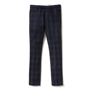 Italian Wool Flannel Dress Pants - Blackwatch