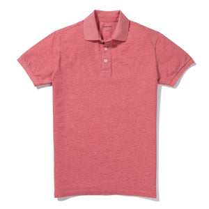 Aldrich - Heather Coral Pique Polo