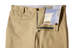 Jacobus (Slim) - Khaki Japanese Herringbone Chino