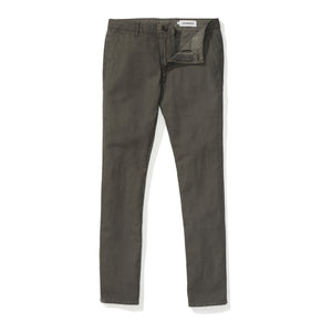 Japanese Linen Canvas Chino - Dark Grey