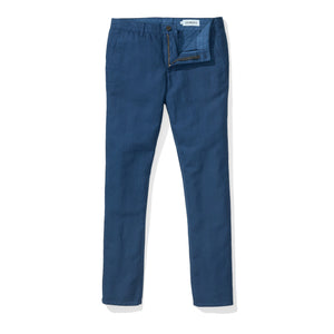 Japanese Linen Canvas Chino - Estate Blue
