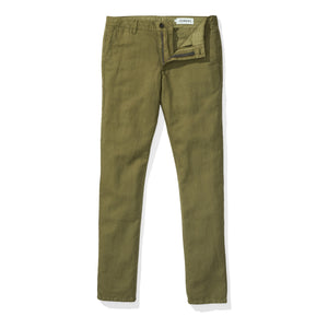 Japanese Linen Canvas Chino - Evergreen