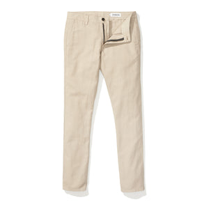 Japanese Linen Canvas Chino - Khaki