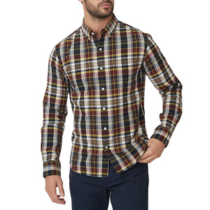 Washed Button Down Shirt - Indian Madras Plaid