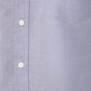 Washed Button Down Shirt - Lavender Oxford
