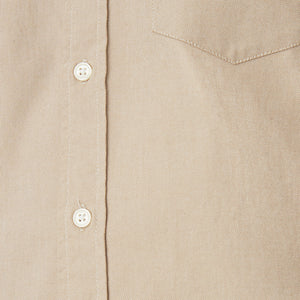 Washed Button Down Shirt - Italian Brushed Khaki Oxford